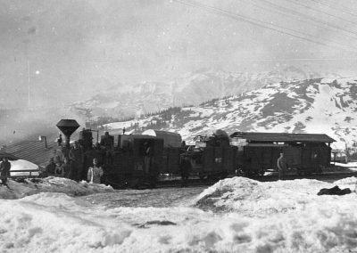 Locomotiva în Pasul Prislop 1917